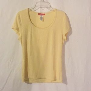 Almost New Anne Klein Scoop Neck Stretch Tee